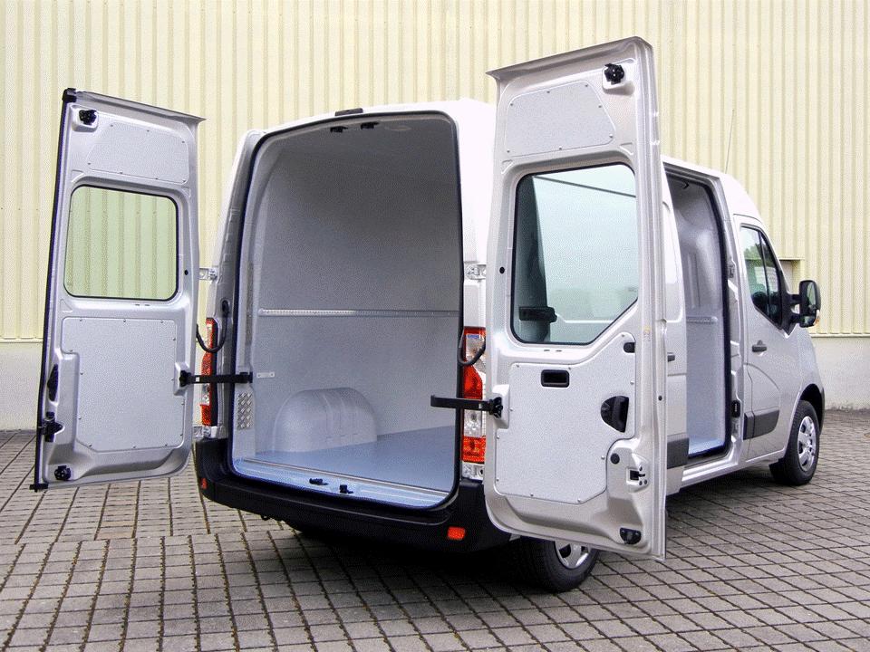 Trans-Clean der Hygieneausbau von Goliath Trans-Lining im großen Lieferwagen