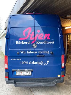 e-Crafter von der Bäckerei Itjen mit Hygieneausbau Trans-Clean