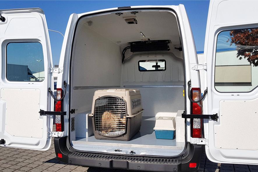 Tiertransporter zum Haustiertransport mit Hygieneausbau und Laderaumklimatisierung