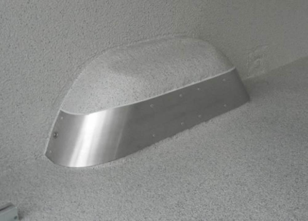 Kotflügelschutz aus VA Stahl schützt den Radkasten vor Beulen und Demolierung