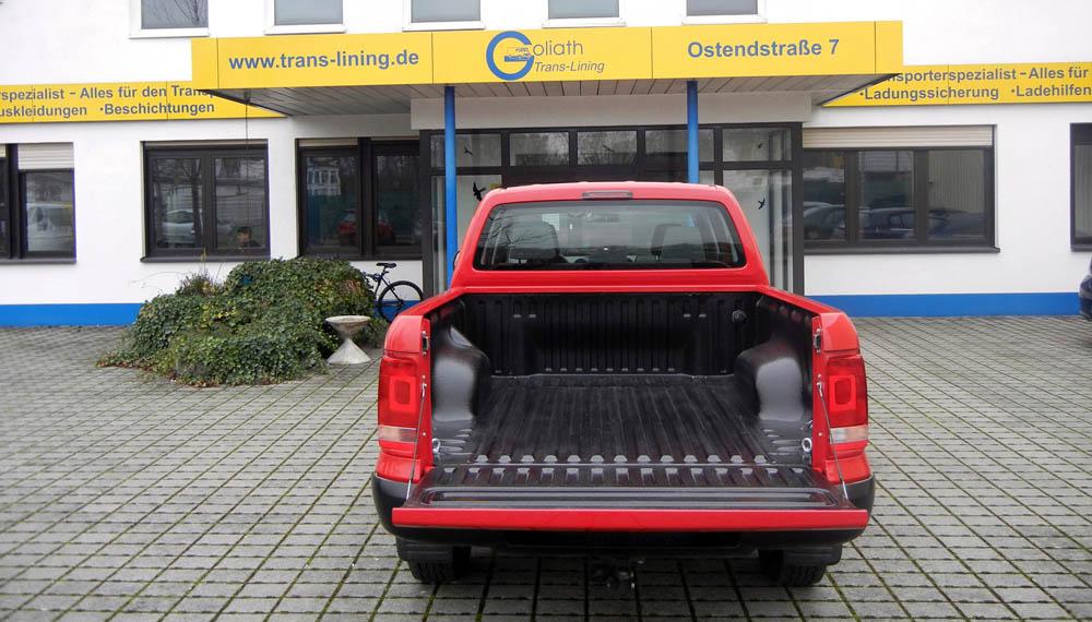 VW Amarok Pick-Up mit einer PU-Beschichtung der Ladefläche