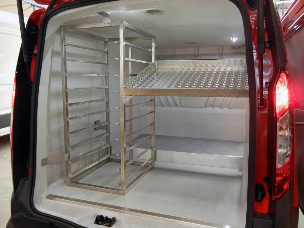 Bäckereifahrzeug mit Elektromobilität lebensmittelecht beschichtet