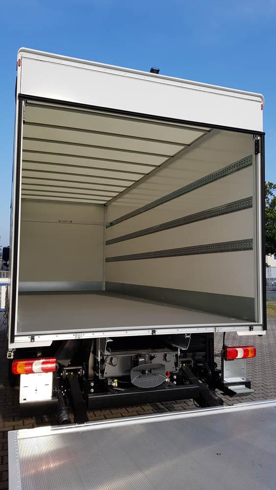 Ladungssicherungsbeschichtung auf dem LKW Boden