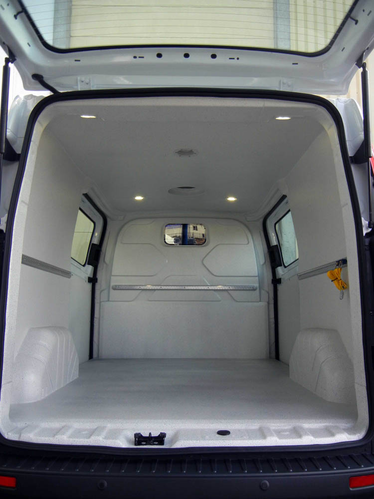 Bäckerei Transporter Ford Transit mit Hygieneausbau Trans-Clean von Goliath Trans-Lining
