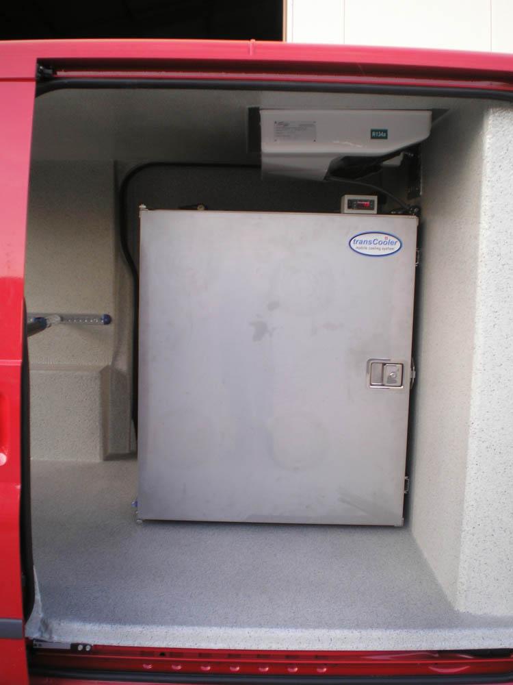 Mobiles Tiefkühlsystem für Transporter mit 12 V Versorgung im Laderaum