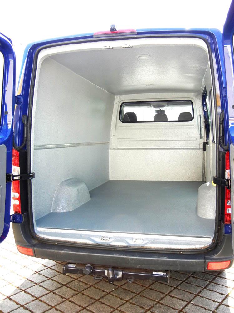 Mercedes Sprinter mit hygienischen Transporter Ausbau des Laderaums