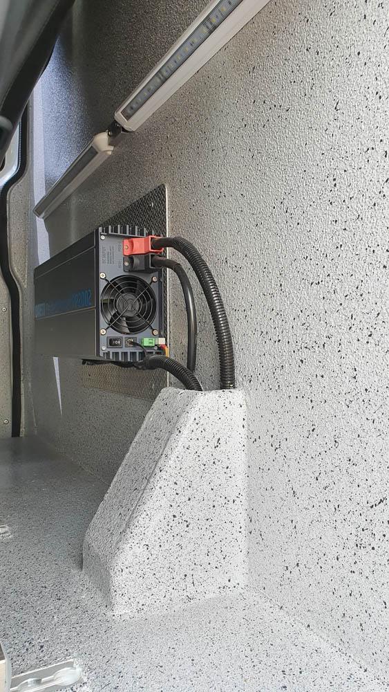 Stromwandler nachgerüstet im Transporter